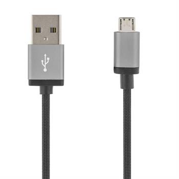 Deltaco PRIME Micro-USB synk/ladd-kabel, 3 meter - svart