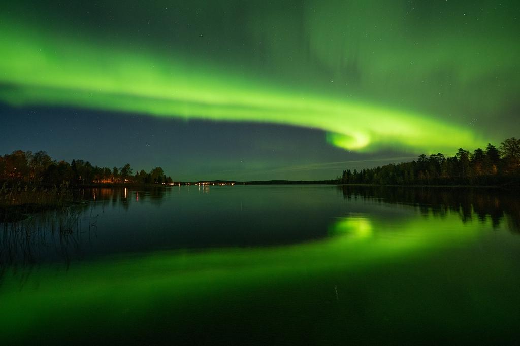 Förra stora norrskenet som var 7 oktober kom på tal och det fanns önskemål  att få se det af03cb7855812
